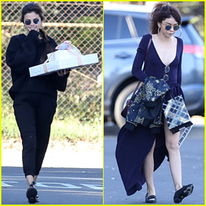 Selena Gomez & Sarah Hyland Team Up for Party in Studio City