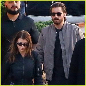 Sofia Richie & Scott Disick Wear Matching Bomber Jackets on Lunch Date