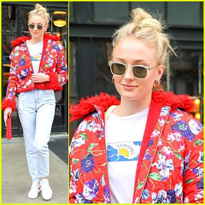 Sophie Turner Wears Flight Suit For 22nd Birthday Celebration