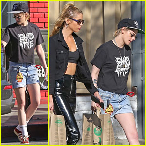 Kristen Stewart Reps Oakland Raiders While Out With Stella Maxwell