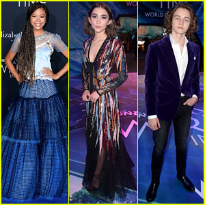 Storm Reid, Rowan Blanchard, & Levi Miller Rock Magical Looks at 'A Wrinkle in Time' Premiere