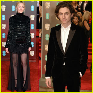 Saoirse Ronan & Timothee Chalamet Step Out at BAFTAs 2018!