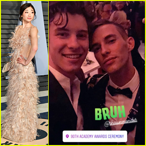 Adam Rippon Meets Crush Shawn Mendes at Vanity Fair's Oscar Party - See The Pic!