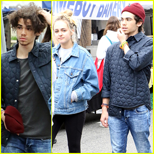 Cameron Boyce & Sophie Reynolds Hang at Farmer's Market Together