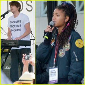 Charlie Puth & Willow Smith Perform at March For Our Lives