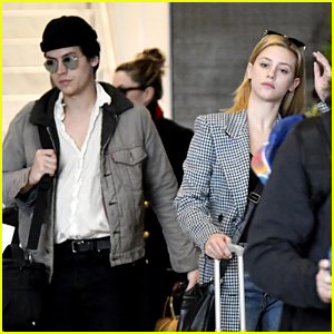 Cole Sprouse & Lili Reinhart Arrive in Paris Together After 'Riverdale' Wraps