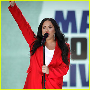 Demi Lovato Performs at March For Our Lives - Watch Now!