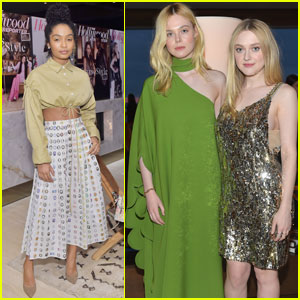 Yara Shahidi Joins Dakota & Elle Fanning For 'THR' Power Stylists Dinner