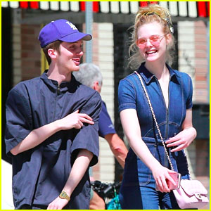 Elle Fanning & Male Friend Look So Happy at Lunch Together!