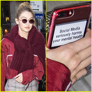 Read the Important Reminder Stuck to Gigi Hadid's Phone!