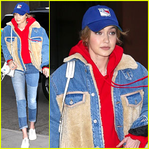 Gigi Hadid Roots for the Home Team at New York Rangers Game!