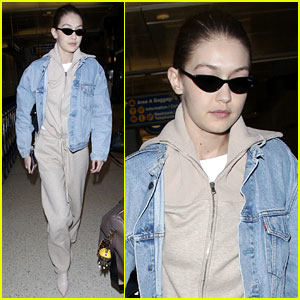Gigi Hadid Keeps It Casual & Trendy at LAX Airport