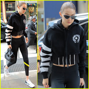 Gigi Hadid Braves the Cold to Pay a Visit to Her Mom Yolanda
