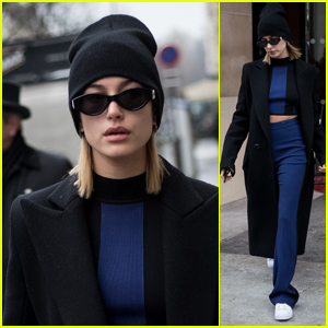 Hailey Baldwin Looks Cool While Stepping Out During Paris Fashion Week 2018