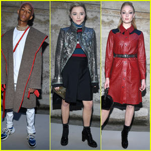 Jaden Smith, Chloe Moretz & Sophie Turner Look so Stylish at the Louis Vuitton Show in Paris!