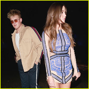 Jake Paul & Erika Costell Step Out for Pre-Oscars 2018 Party During Their YouTube Break