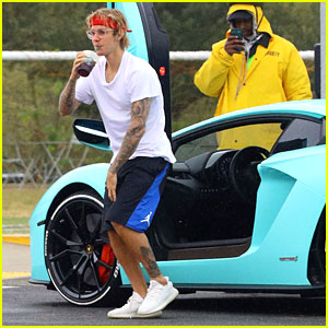 Justin Bieber Starts Dancing in the Middle of the Road - See Pics!