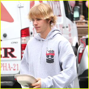 Justin Bieber Grabs Poke Bowl For Lunch on Sunday Funday