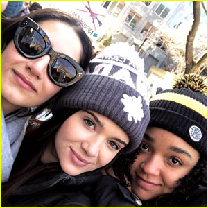 Katie Stevens, Aisha Dee, & Nikohl Boosheri Join March for Our Lives in Canada