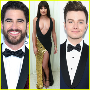 Lea Michele Joins Darren Criss & Chris Colfer at Oscars After-Party!