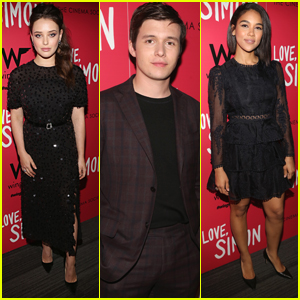 Nick Robinson, Katherine Langford, & Alexandra Shipp Bring 'Love, Simon' to NYC