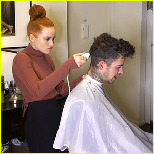 Madelaine Petsch Gives Boyfriend Travis Mills a Haircut - Watch!