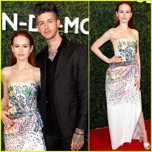Madelaine Petsch & Boyfriend Travis Mills Couple Up at Pre-Oscars Bash