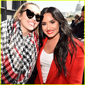 Miley Cyrus Pens Sweet Note to Demi Lovato at March For Our Lives!