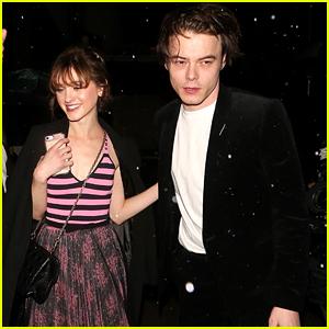 Stranger Things' Natalia Dyer & Charlie Heaton Shoot Down Break Up Rumors at Dior Addict Party