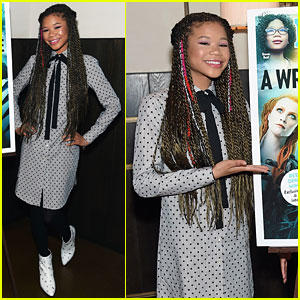 Storm Reid Rocks Colorful Hair Streaks While Celebrating People's 'A Wrinkle in Time' Cover