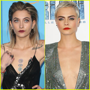 Paris Jackson & Cara Delevingne Share A Kiss During Dinner Date
