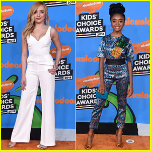Bunk'd's Peyton List & Skai Jackson Wear the Pants at Kids Choice Awards 2018!