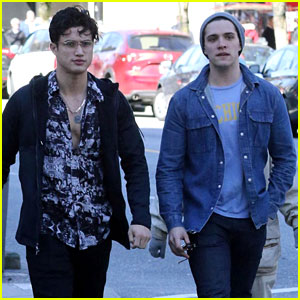 Riverdale's Casey Cott & Charles Melton Hang Out Ahead of Last Season 2 Table Read