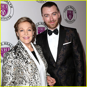 Sam Smith Looks Dapper While Paying Tribute to Julie Andrews