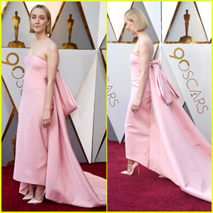 Saoirse Ronan Wears Bow-Tiful Pink Dress at Oscars 2018