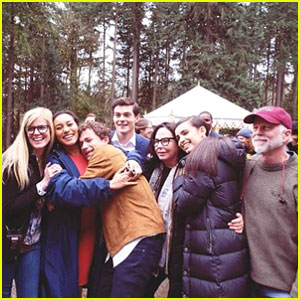 Sofia Carson Thanks 'Perfectionists' Family After Pilot Filming Wraps