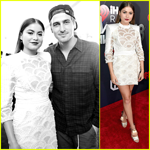Sofia Reyes Meets Up With Kendall Schmidt at iHeartRadio Music Awards 2018