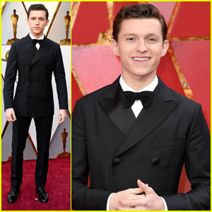 Tom Holland Keeps Bow Ties Cool at Oscars 2018