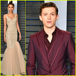 Zendaya & Tom Holland Are True Style Stars at Vanity Fair Oscars Party!