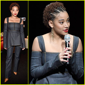 Amandla Stenberg Talks 'The Hate U Give' Recasting Situation at CinemaCon 2018