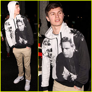 Ansel Elgort Wears Diamond Bracelet While Out With Friends in WeHo