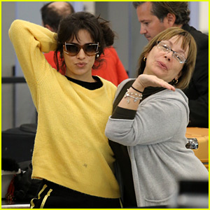 Camila Cabello & Her Mom Strike Poses for Photographers at the Airport!