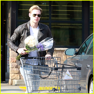 Chord Overstreet Steps Out With Flowers After a Shopping Trip!