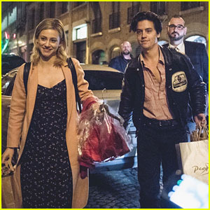 Lili Reinhart & Cole Sprouse Carry Their Gifts from Fans After RiverCon in Paris
