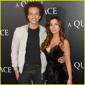 Rise's Damon J. Gillespie & Fiancee Grace Aki Step Out For 'A Quiet Place' Premiere