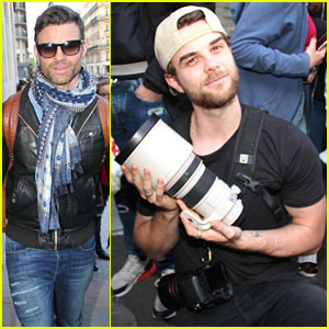 Daniel Gillies & Nathaniel Buzolic Prepare for Blood Lust Convention in Paris