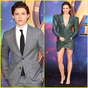 Tom Holland & Elizabeth Olsen Join Forces at 'Avengers' UK Fan Event