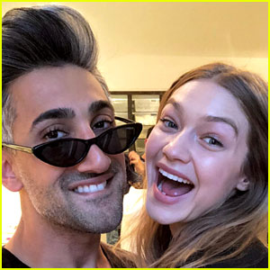 Gigi Hadid Joins Tan France & Friends at His Birthday Party