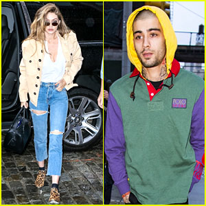 Gigi Hadid & Zayn Malik Arrive Home at Her NYC Apartment Separately