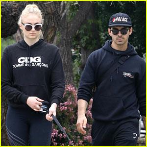 Joe Jonas & Sophie Turner Walk Their Super Cute Puppy Porky